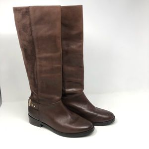 Cole Haan Adler Leather & Suede Riding Boots Sz 7